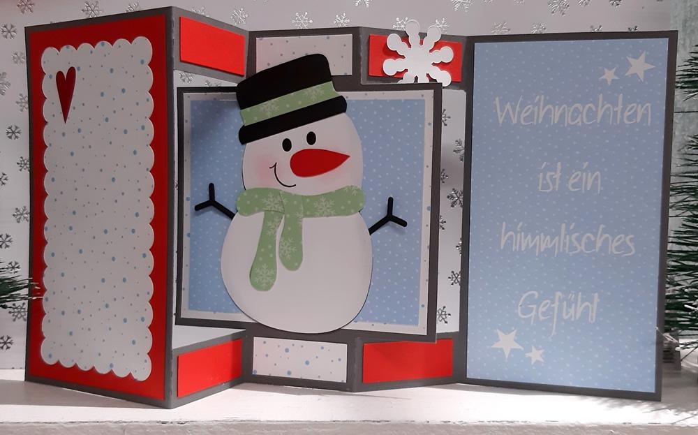 Grußkarte mit Schneemann