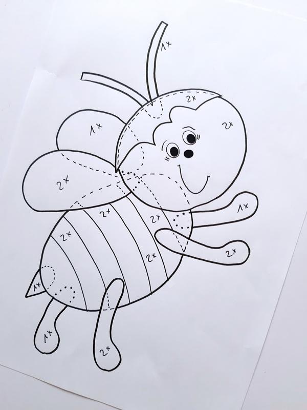 Vorlagebogen Biene zum Weltbienentag