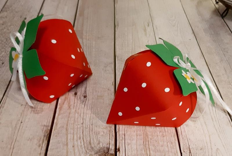 Deko-Erdbeeren ein optischer Leckerbissen