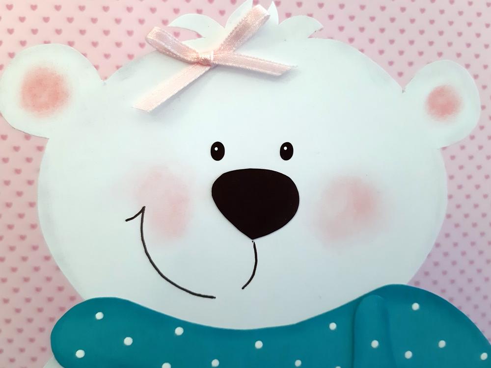 Der Kopf vom Tischlicht Eisbär.