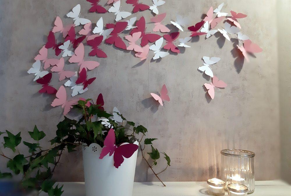 Schmetterlinge im Flug