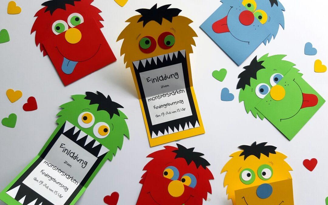 Monsterstarke Einladungskarte
