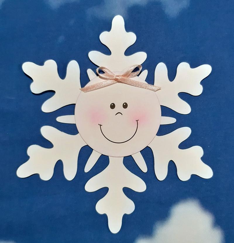 Schneeflocke aus Papier