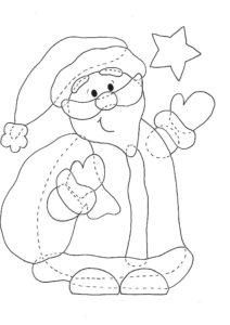 Kostenlose Bastelvorlage Weihnachtsmann Aus Holz Weihnachten 14