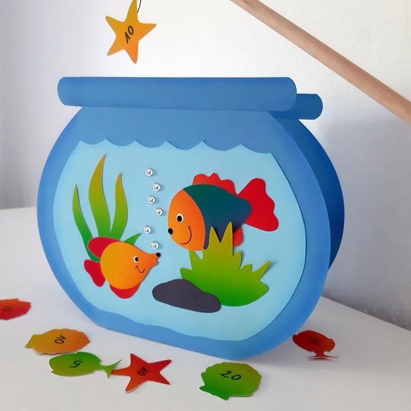 Das fertige Aquarium in der Vorderansicht.