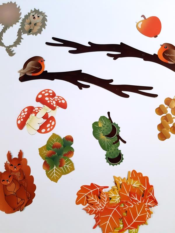Einzelteile vom Mobile Herbstzauber