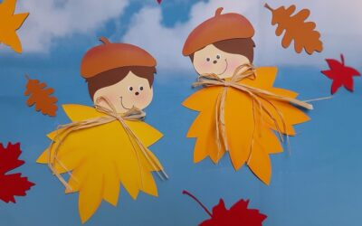 Blätterkinder im Wind