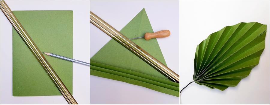 Ein Buchenblatt aus Naturpapier