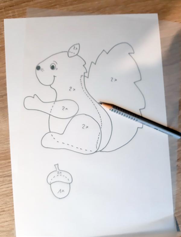 vorlagebogen vom Eichhörnchen