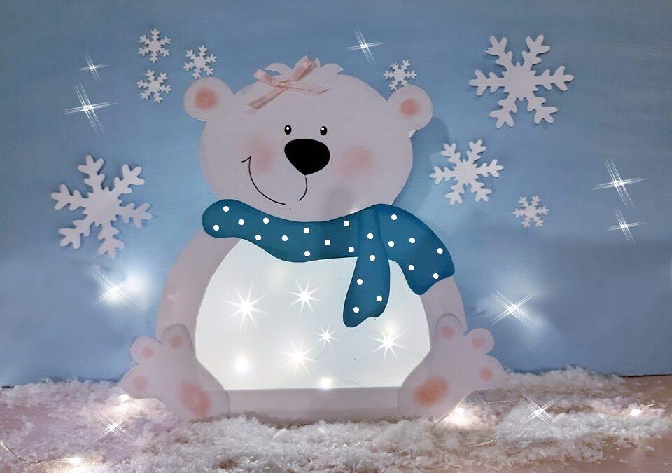 Beleuchteter Eisbär Tischlampe