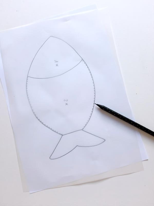 Vorlagebogen vom Fisch zum Übertragen