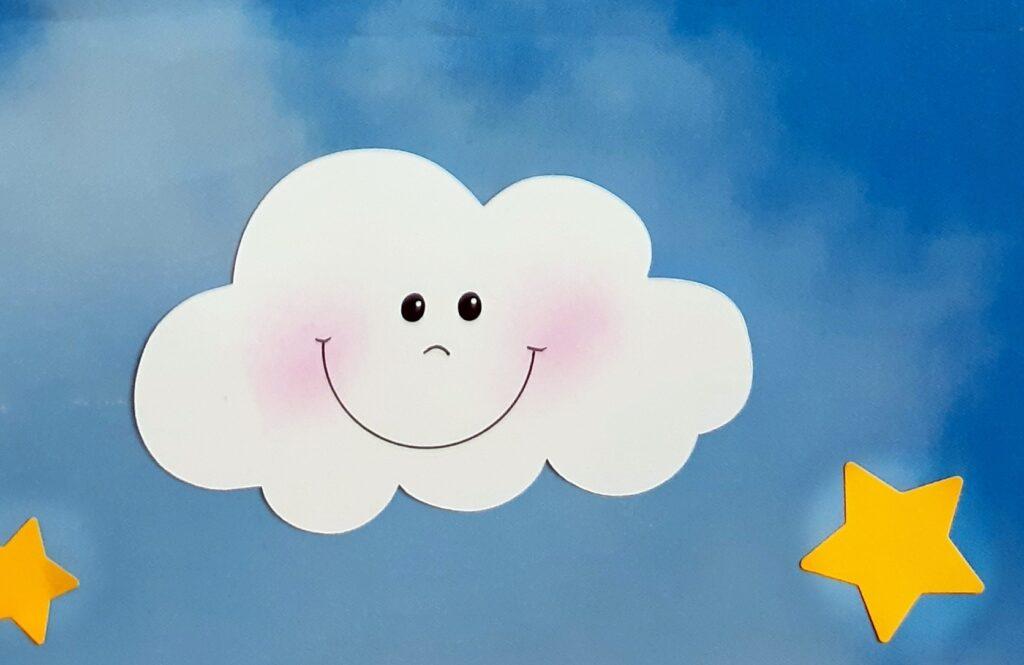Detailansicht von den Wolken.
