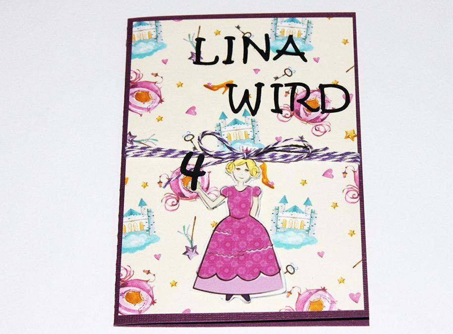 Geburtstagskarte für Prinzessinnen
