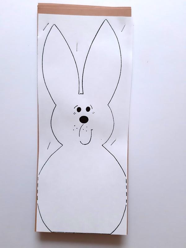 Vorlagebogen Hase zum Übertragen aus Fotokarton