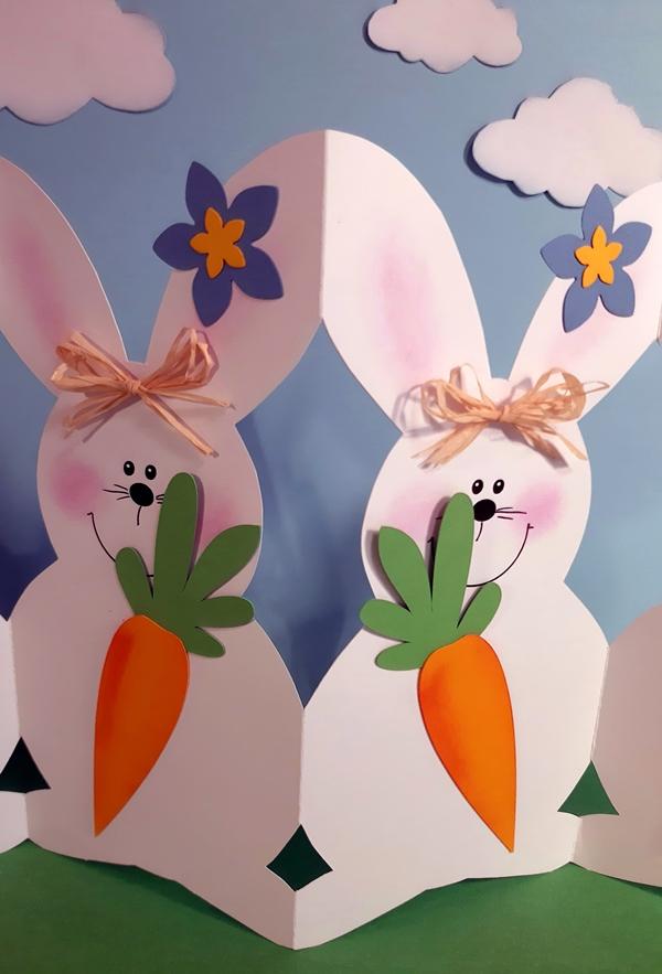 2 Hasen im Detail aus der Hasenparade.
