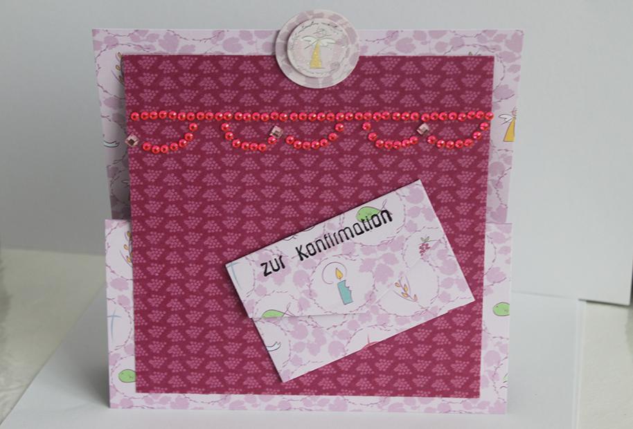 Konfirmation-Geldkarte für Mädchen