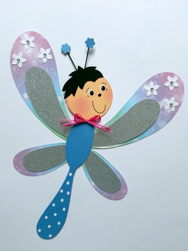 Libellen aus Magie-Karton