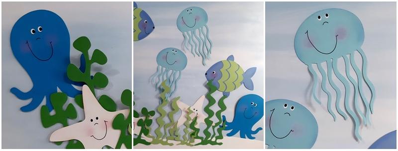 Meerestiere aus der Unterwasserwelt