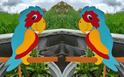 Ein Papagei in bunten Farben