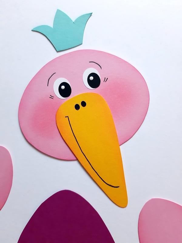Kopf vom Vogel Rosa-Mariechen