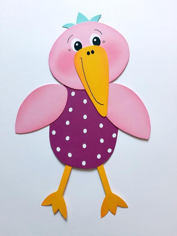 Rosa Vogel mit dem Namen Rosa-Mariechen