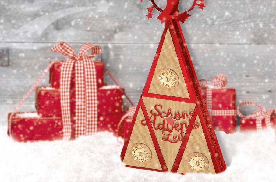 Schachtelpyramide Advent
