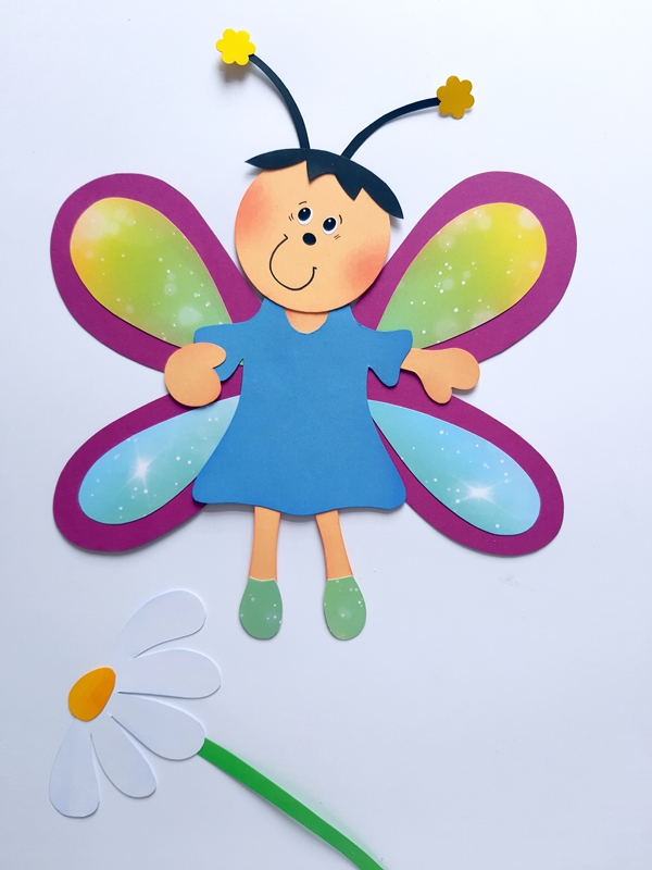 Schmetterling in bunten Farben