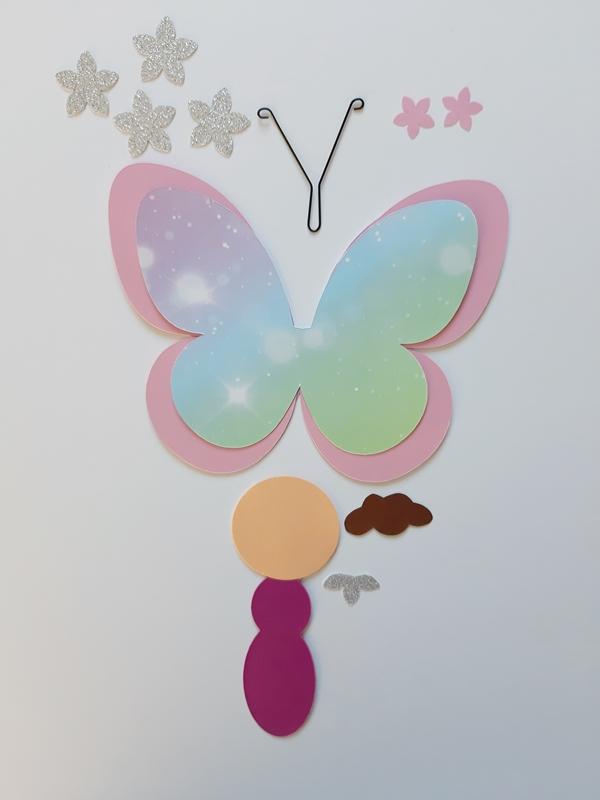 Die Einzelteile für den Schmetterlingsflug
