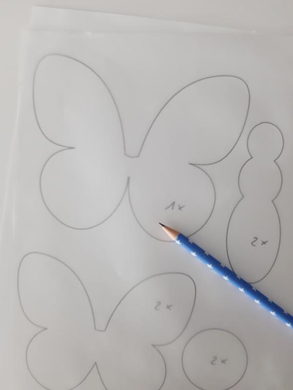 Die Vorlage für den Schmetterlingsflug wird übertragen