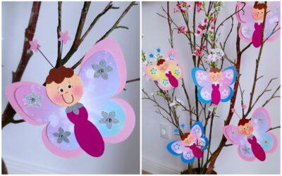 Schmetterlingsflug im Frühling