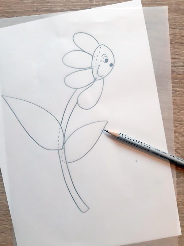 Vorlagebogen einer Blume