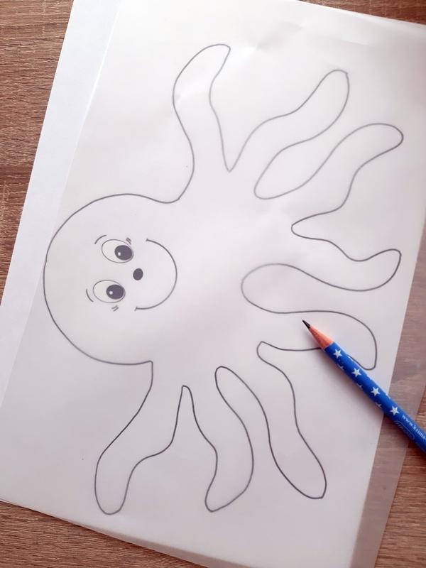 Vorlagebogen von einem Oktopus