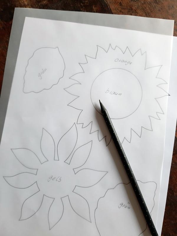 Vorlagebogen Sonnenblumen