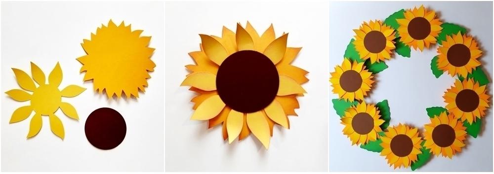 Sonnenblumen für den Spätsommer selber basteln