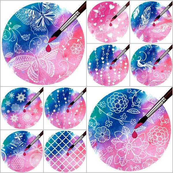 Eine Auswahl an Designs von Zauberpapier.