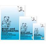 Brief- und Bastelkarten in DIN A4 weiß, Inhalt 25 Karten
