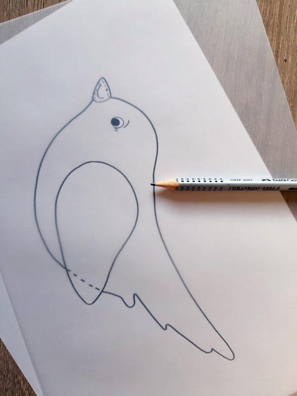 Vorlagebogen von einem Vogel