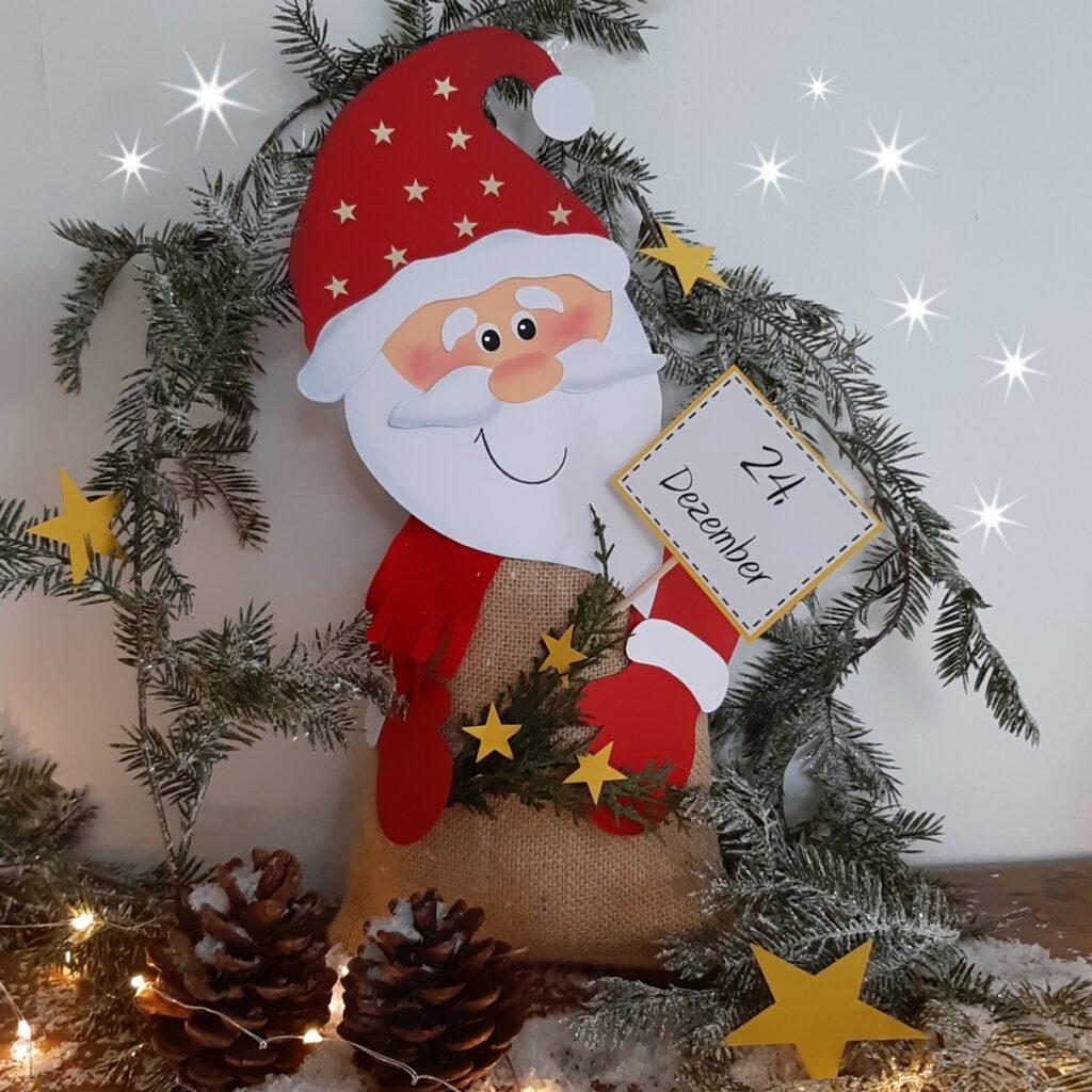 Weihnachtsmann mit - Jutesack