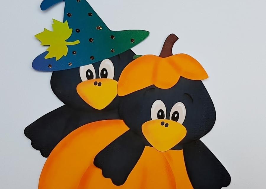 Krähen für Halloween