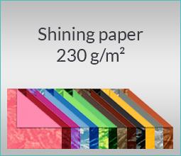 Shining paper