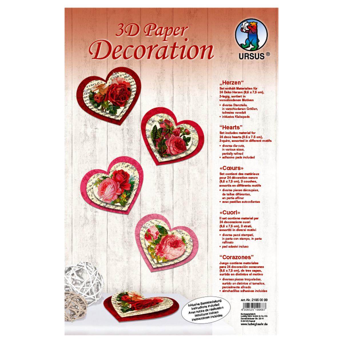 """3D Paper Decoration """"Herzen"""""""