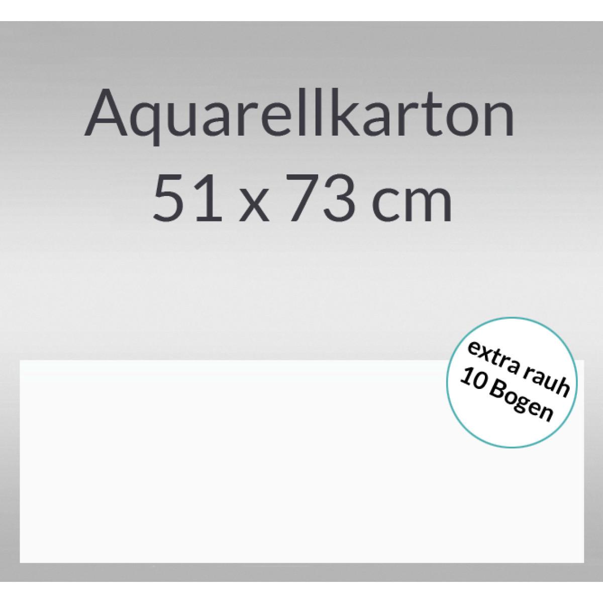 Aquarellkarton extra rauh 250 g/qm 51 x 73 cm
