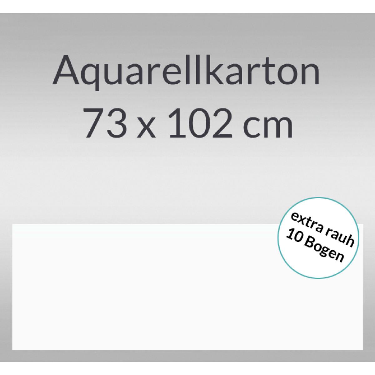 Aquarellkarton extra rauh 250 g/qm 73 x 102 cm