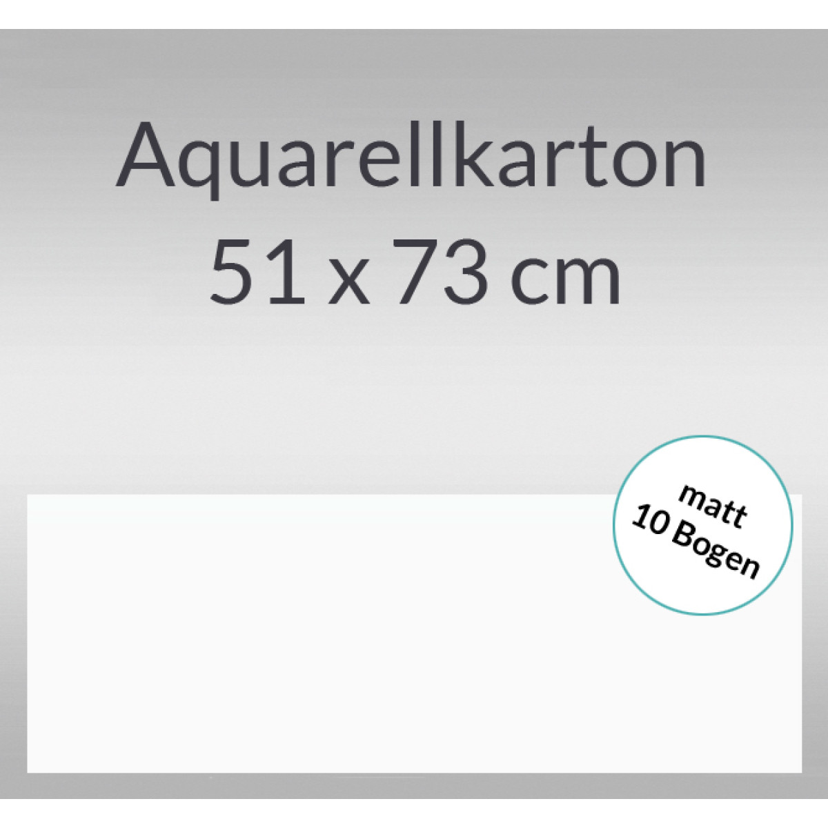 Aquarellkarton matt 200 g/qm 51 x 73 cm
