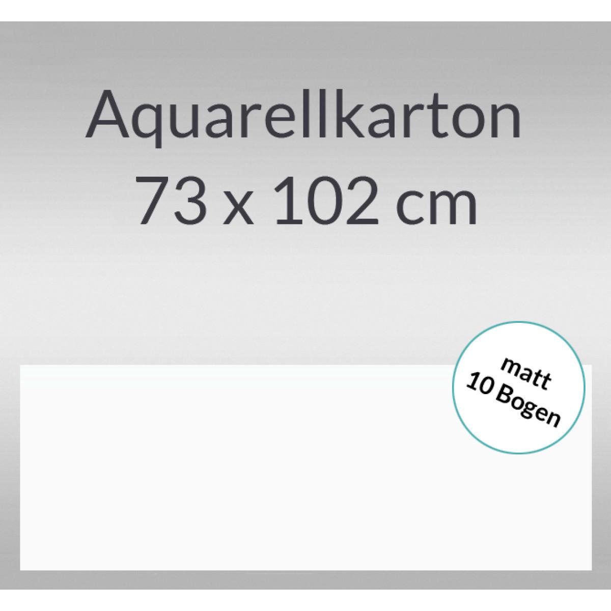 Aquarellkarton matt 200 g/qm 73 x 102 cm