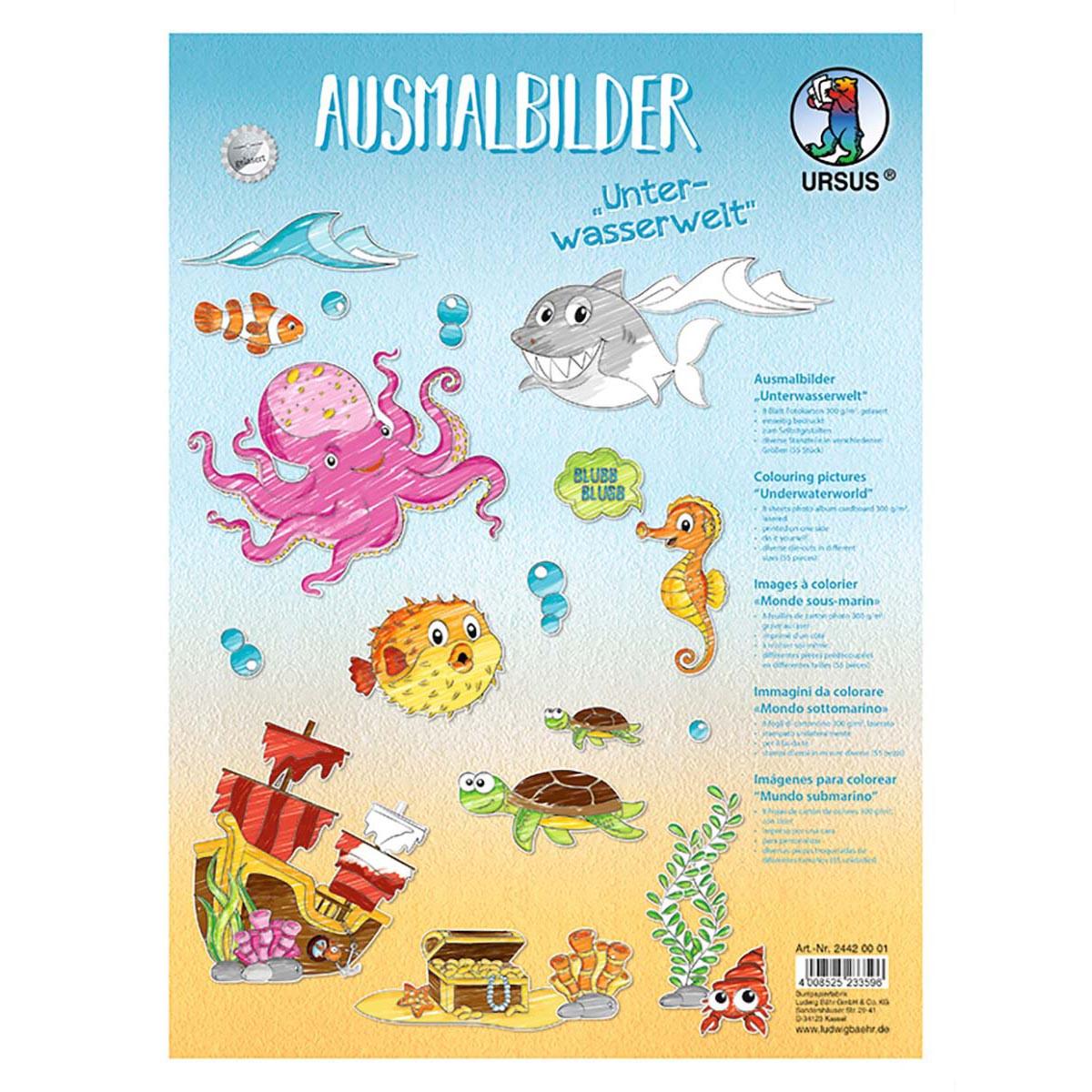 """Ausmalbilder """"Unterwasserwelt"""""""