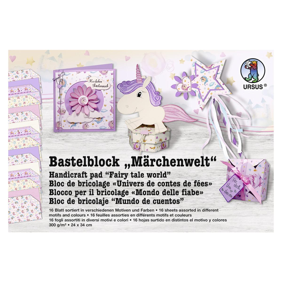 "Bastelblock ""Märchenwelt"" 24 x 34 cm - 16 Blatt"