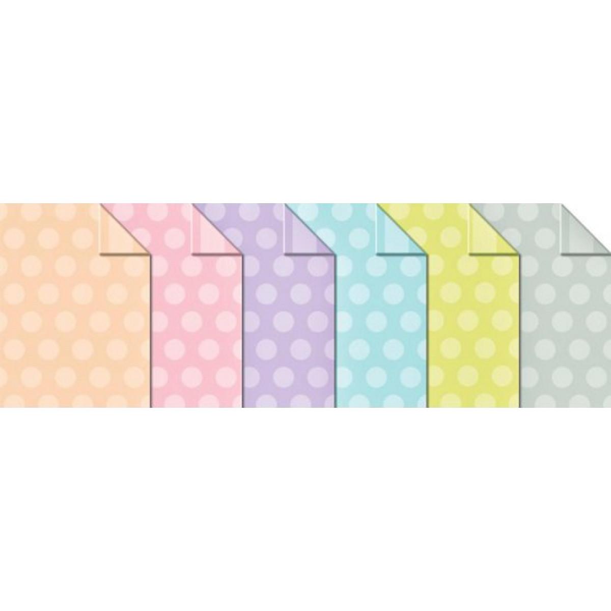 "2 Bögen 300 g//qm Blau Tonkarton /""Polka Dots /& Stripes /"" doppelseitig bedruckt"