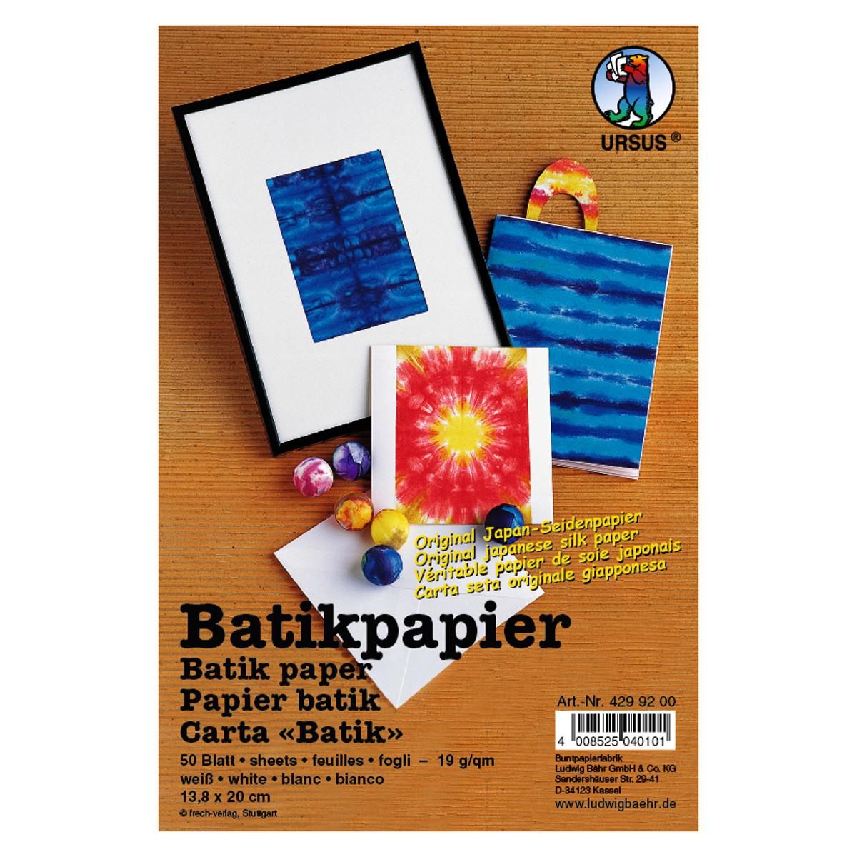 Batikpapier 19 g/qm 9,5 x 13,8 cm - 100 Blatt