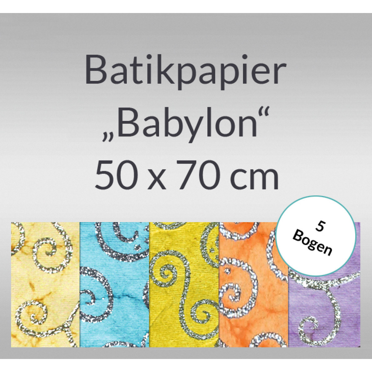 batikpapier babylon 50 x 70 cm 5 bogen buntpapierwelt. Black Bedroom Furniture Sets. Home Design Ideas